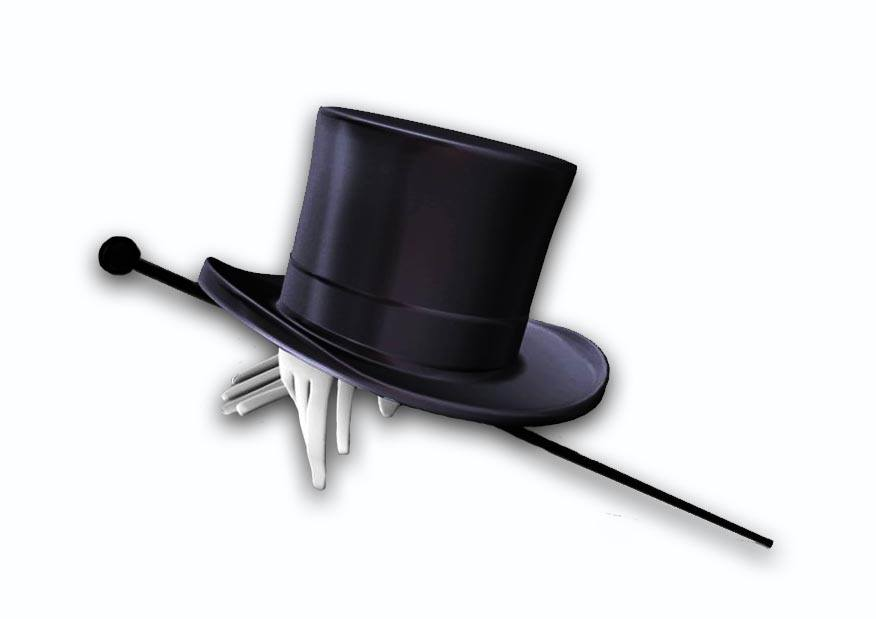 Top hat w gloves